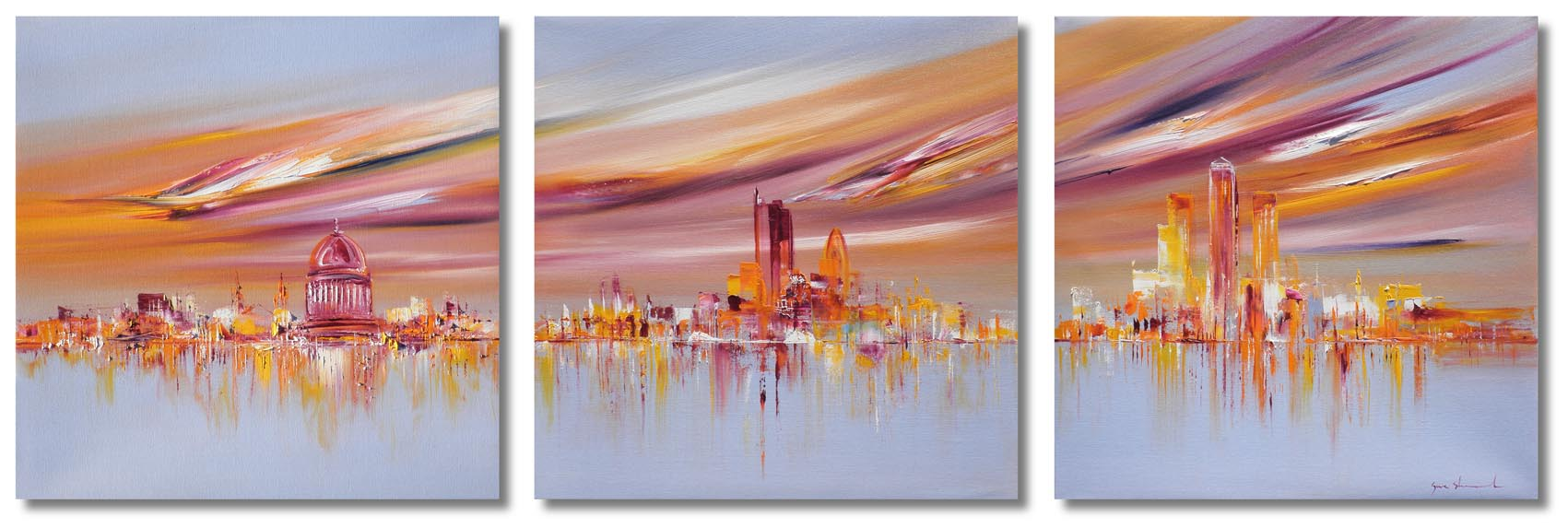 I can Breathe oil on canvas cityscape painting 97514