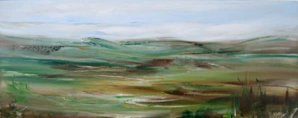 Landscape art painting Textures on the Moor - 4548