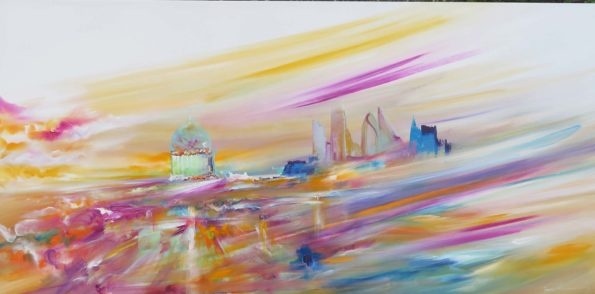 Spring-is-Here-Abstract-Cityscape-Artist-London-Sara-Sherwood