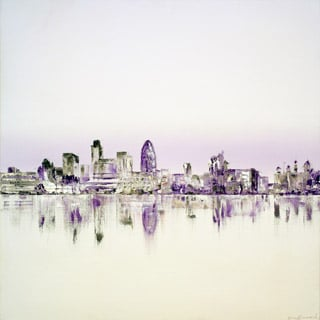 Lilac and Umber London Skyline